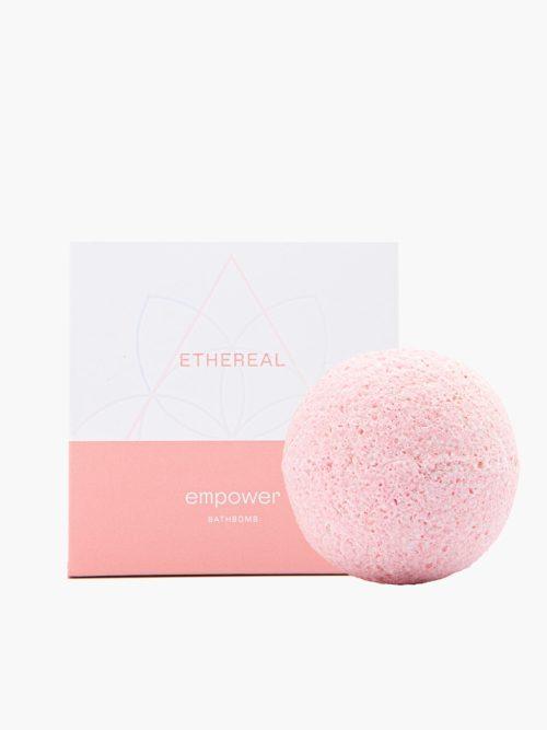 bathbomb Empower για ενδυνάμωση νυχιών και δέρματος με άλατα epsom με το κουτί του