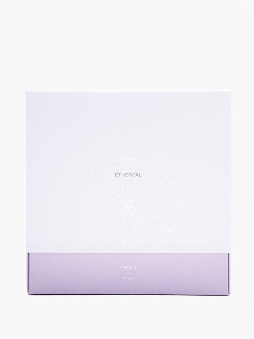 Συσκευασία δώρου της σειράς Relax με άρωμα λεβάντα γιασεμό για χαλάρωση και περιποίηση σώματος και μαλλιών