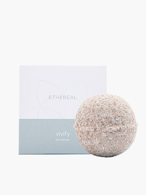 Bathbomb Vivify για ενυδατωση και περιποιηση σωματος και ποδιων με υπεροχο αρωμα, ελληνικο χειροποιητο με φυσικα υλικα με το κουτί του