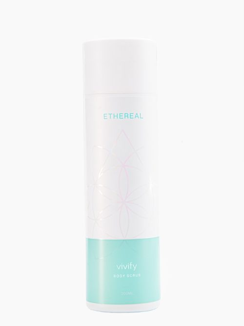 Scrub Vivify για ενυδατωση και περιποιηση σωματος και μαλλιων με υπεροχο αρωμα, ελληνικο χειροποιητο με φυσικα υλικα
