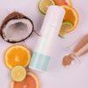Σύνθεση με Scrub Vivify με άρωμα καρύδα για ενυδατωση και περιποιηση σωματος και μαλλιων με υπεροχο αρωμα, ελληνικο χειροποιητο με φυσικα υλικα